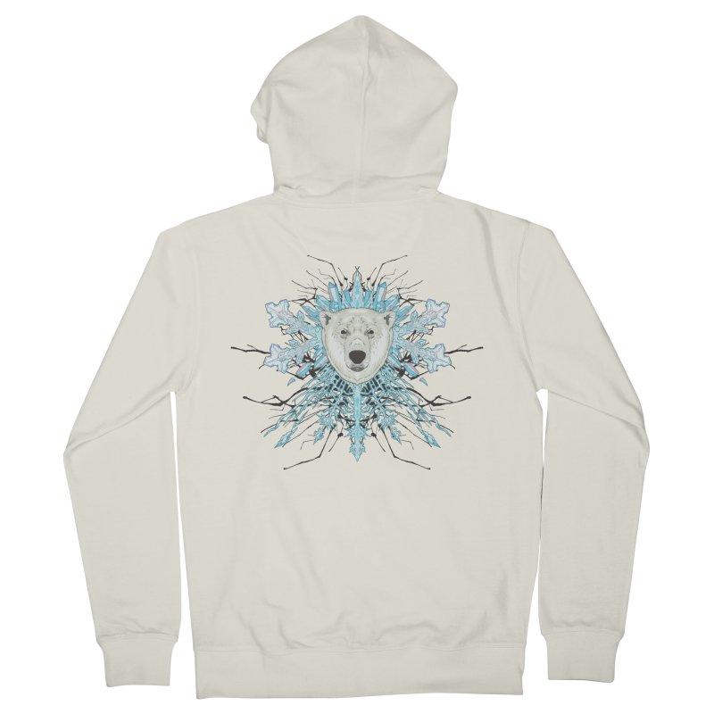 Polar bear snowflake Women's Zip-Up Hoody by zonka's Artist Shop