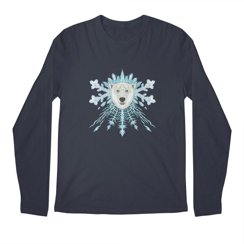 Polar bear snowflake Men's Longsleeve T-Shirt by zonka's Artist Shop