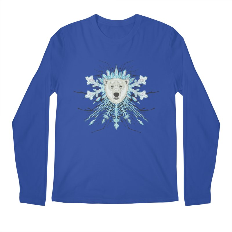 Polar bear snowflake Men's Longsleeve T-Shirt by zonka's Artist Shop