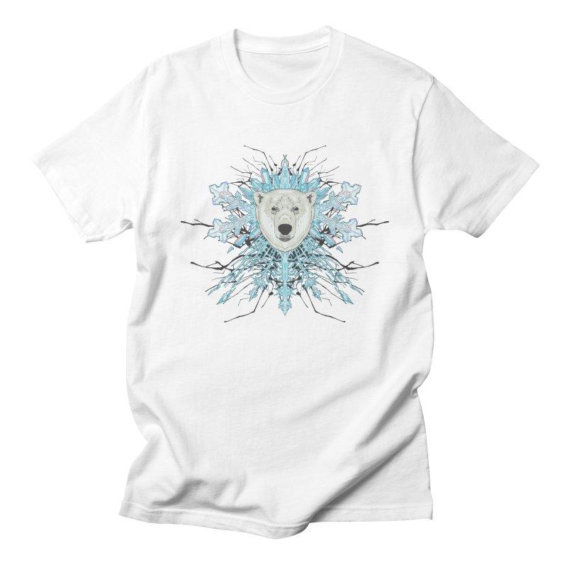 Polar bear snowflake Women's Regular Unisex T-Shirt by zonka's Artist Shop