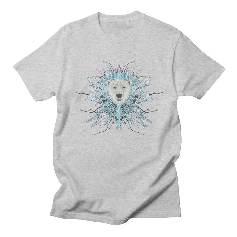 Polar bear snowflake Women's Unisex T-Shirt by zonka's Artist Shop