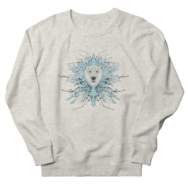Polar bear snowflake Women's Sweatshirt by zonka's Artist Shop