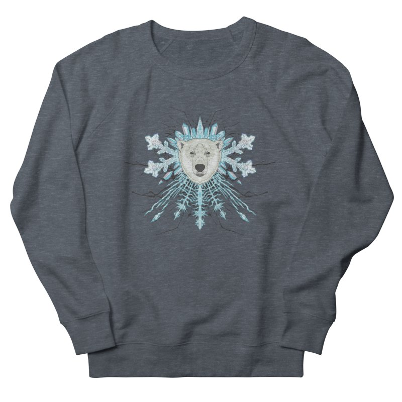 Polar bear snowflake Men's Sweatshirt by zonka's Artist Shop