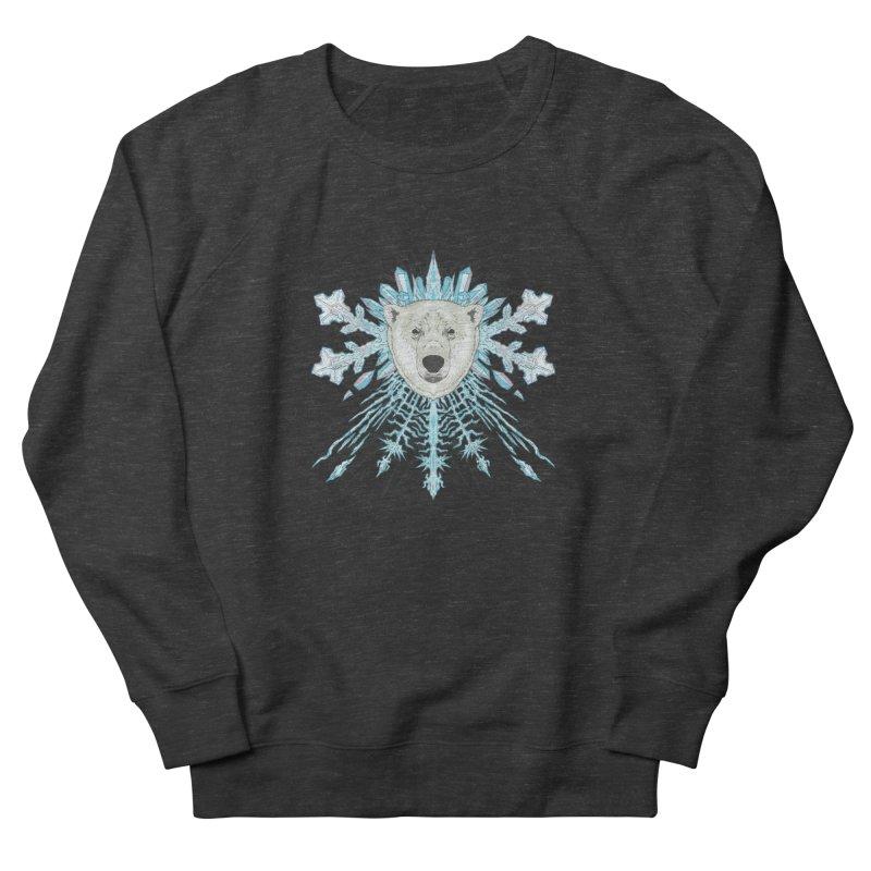 Polar bear snowflake Men's Sweatshirt by zonka's Artist Shop