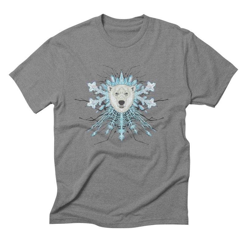 Polar bear snowflake Men's Triblend T-Shirt by zonka's Artist Shop