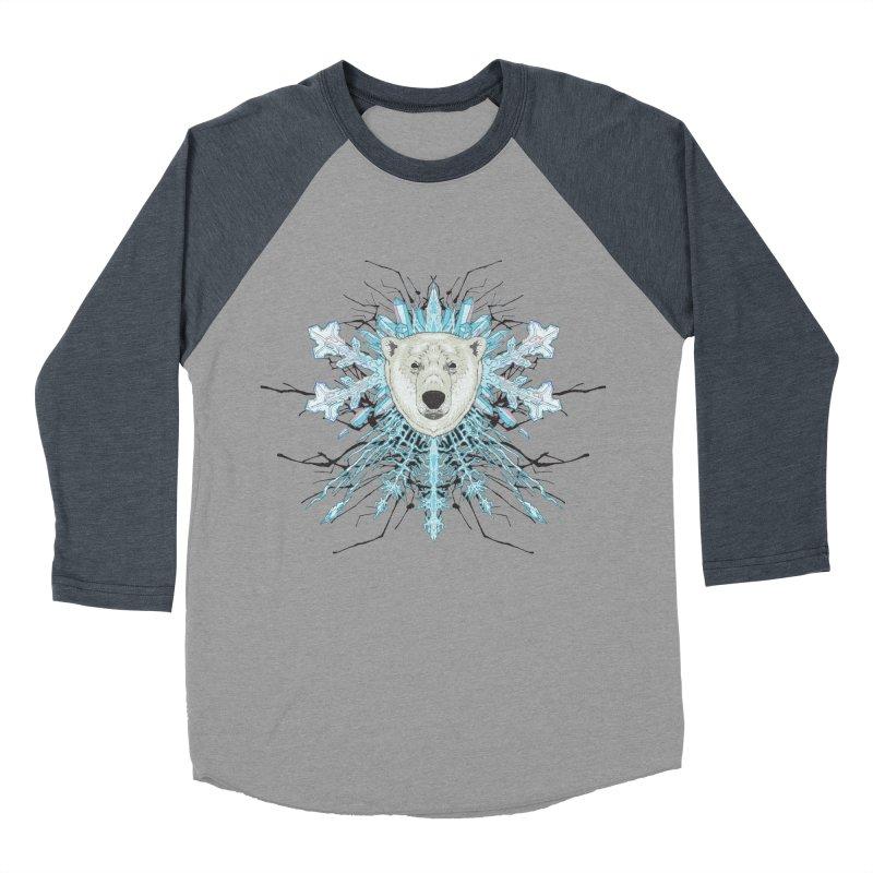 Polar bear snowflake Men's Baseball Triblend T-Shirt by zonka's Artist Shop