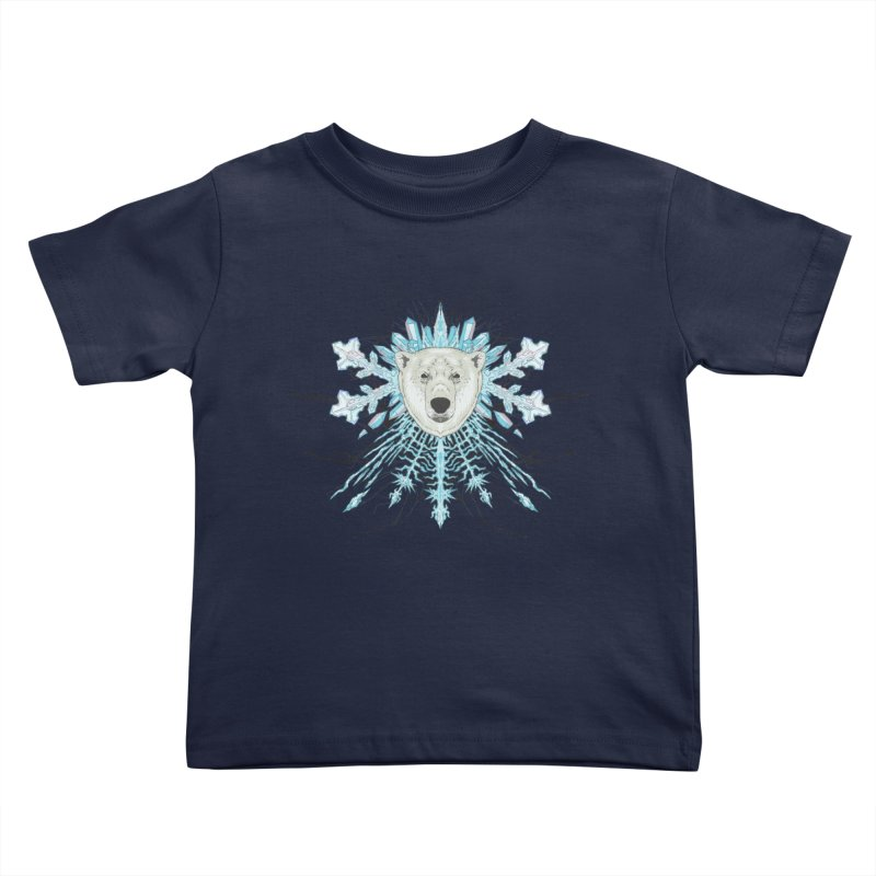 Polar bear snowflake Kids Toddler T-Shirt by zonka's Artist Shop
