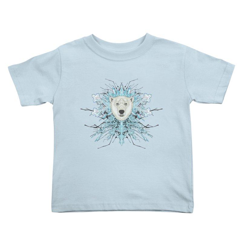 Polar bear snowflake Kids Toddler T-Shirt by Aaron Zonka's Artist Shop