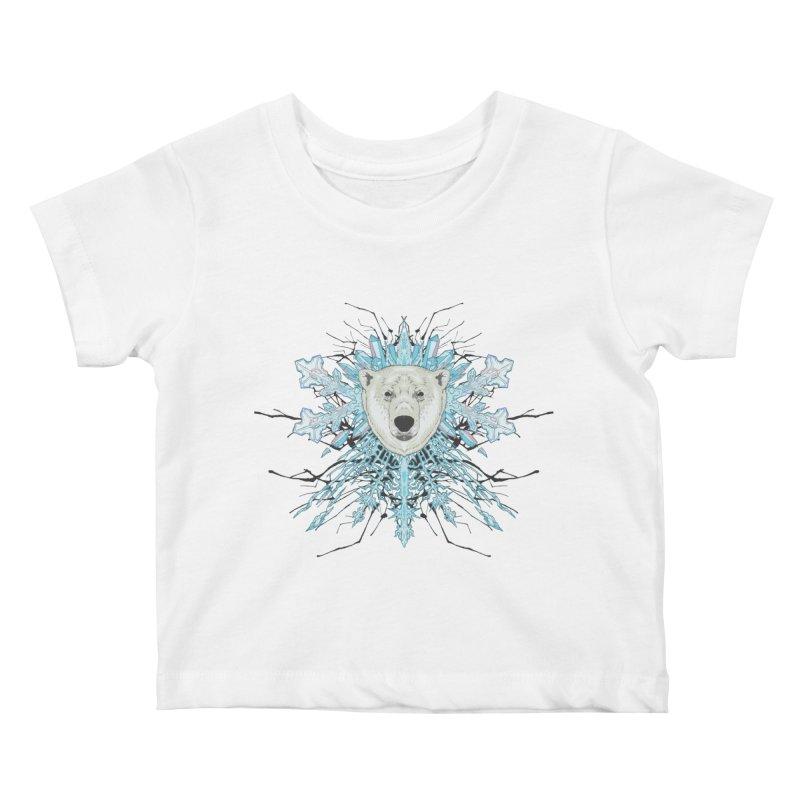 Polar bear snowflake Kids Baby T-Shirt by zonka's Artist Shop