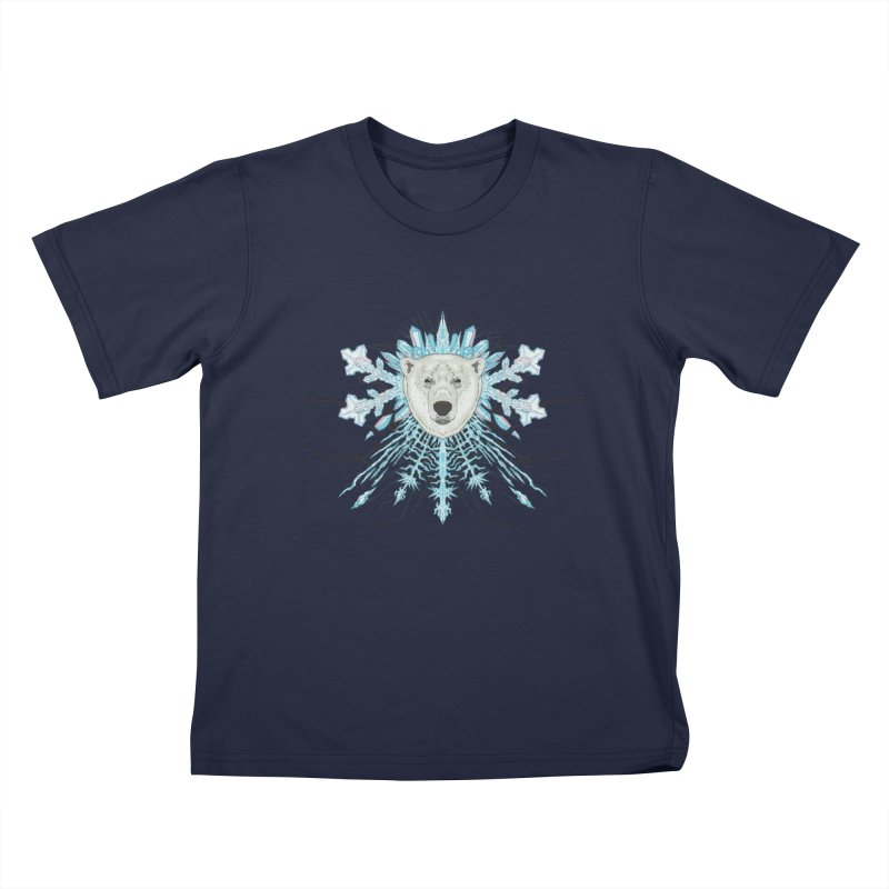 Polar bear snowflake Kids T-Shirt by Aaron Zonka's Artist Shop