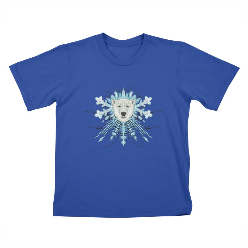 Polar bear snowflake Kids T-shirt by zonka's Artist Shop