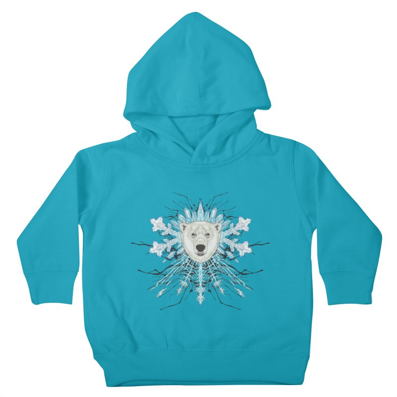 Polar bear snowflake Kids Toddler Pullover Hoody by zonka's Artist Shop