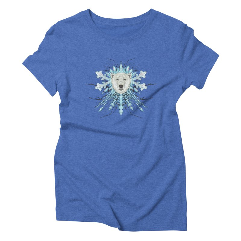 Polar bear snowflake Women's Triblend T-Shirt by zonka's Artist Shop
