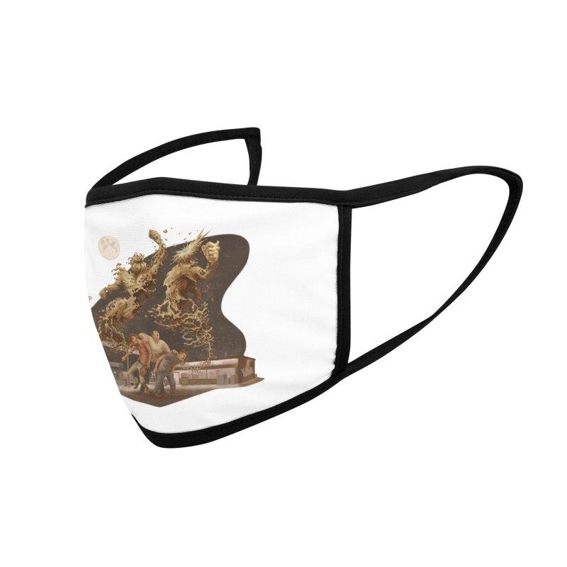 Puke Titans Accessories Face Mask by Aaron Zonka's Artist Shop
