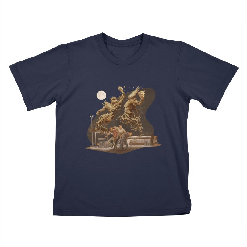 Puke Titans Kids T-Shirt by Aaron Zonka's Artist Shop