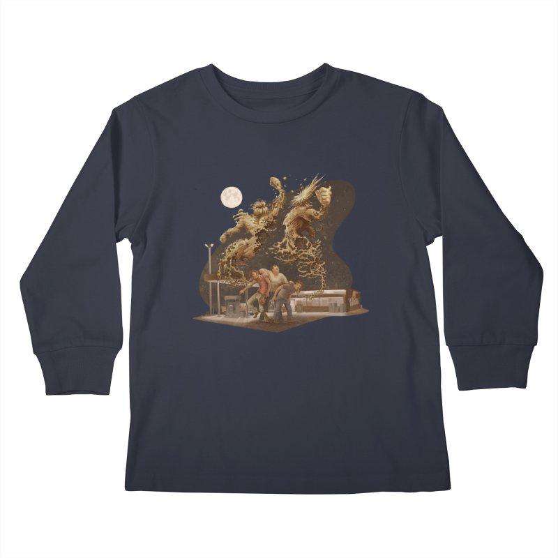 Puke Titans Kids Longsleeve T-Shirt by Aaron Zonka's Artist Shop