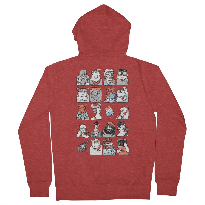 Group photo Men's French Terry Zip-Up Hoody by zonka's Artist Shop