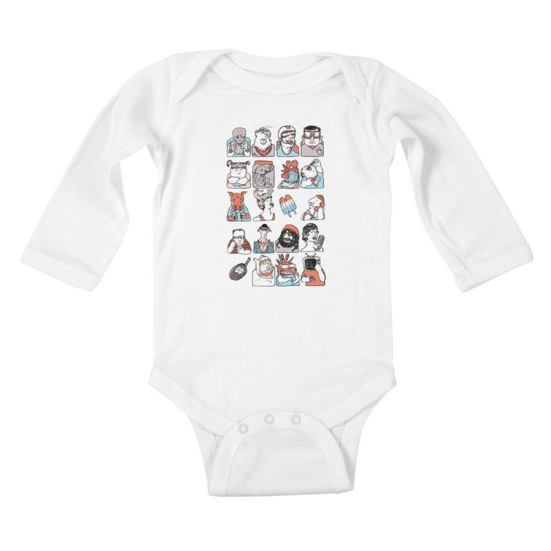 Group photo Kids Baby Longsleeve Bodysuit by zonka's Artist Shop