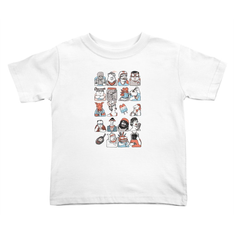 Group photo Kids Toddler T-Shirt by zonka's Artist Shop