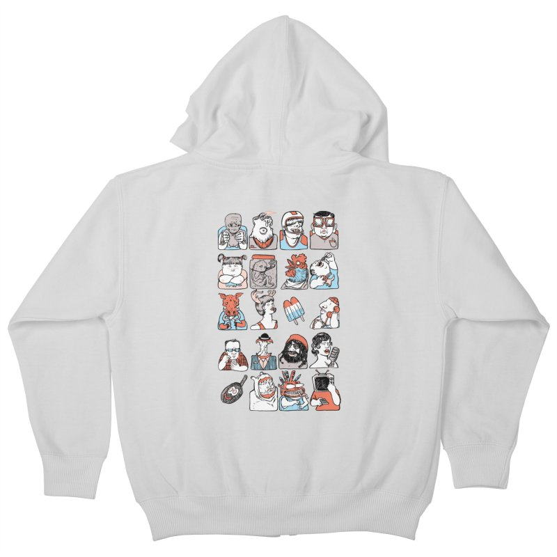 Group photo Kids Zip-Up Hoody by zonka's Artist Shop