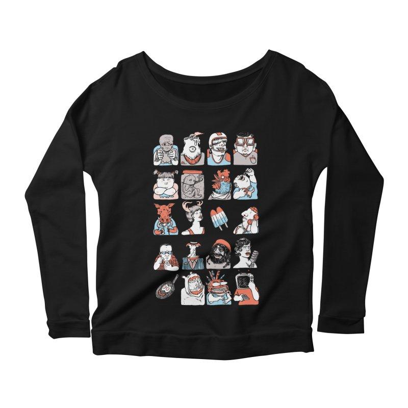 Group photo Women's Scoop Neck Longsleeve T-Shirt by zonka's Artist Shop