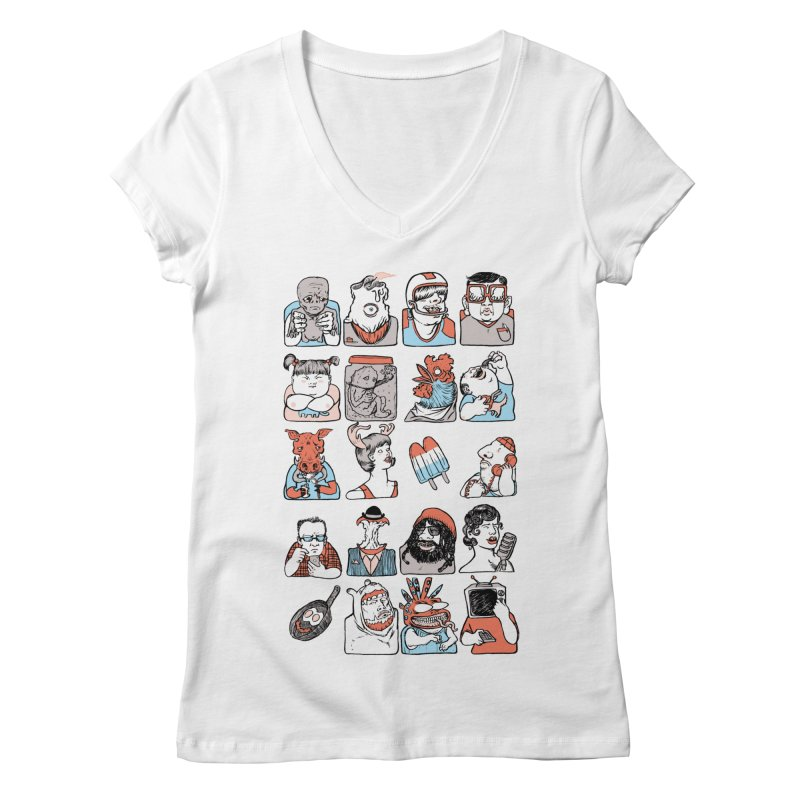 Group photo Women's V-Neck by zonka's Artist Shop