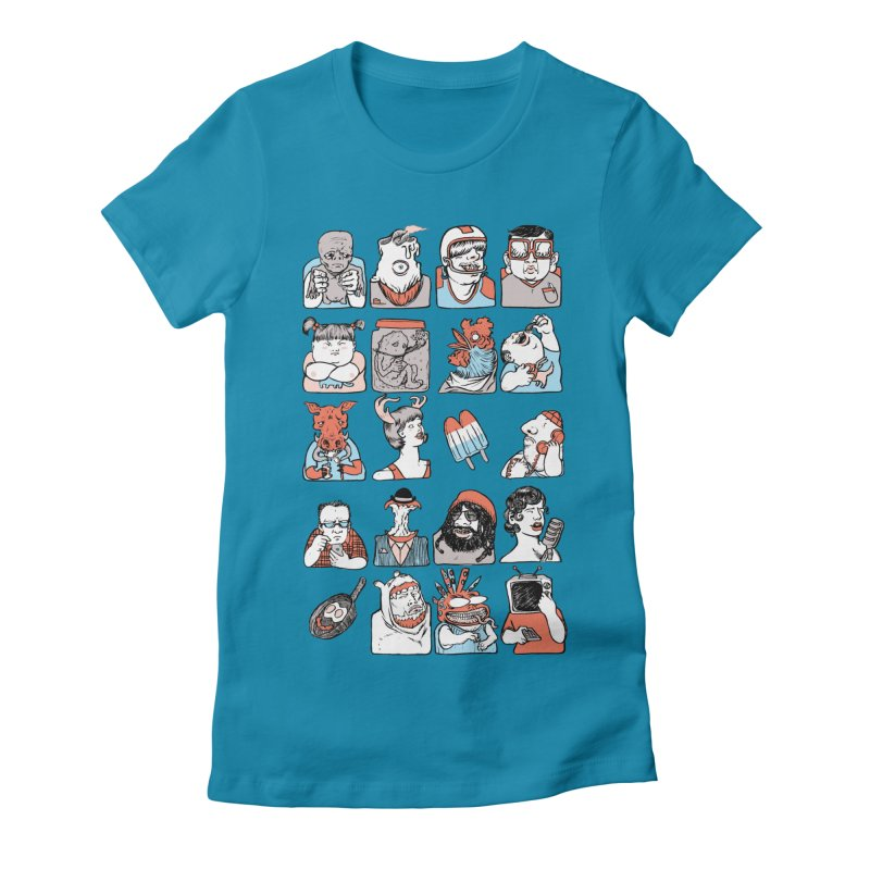 Group photo Women's Fitted T-Shirt by zonka's Artist Shop