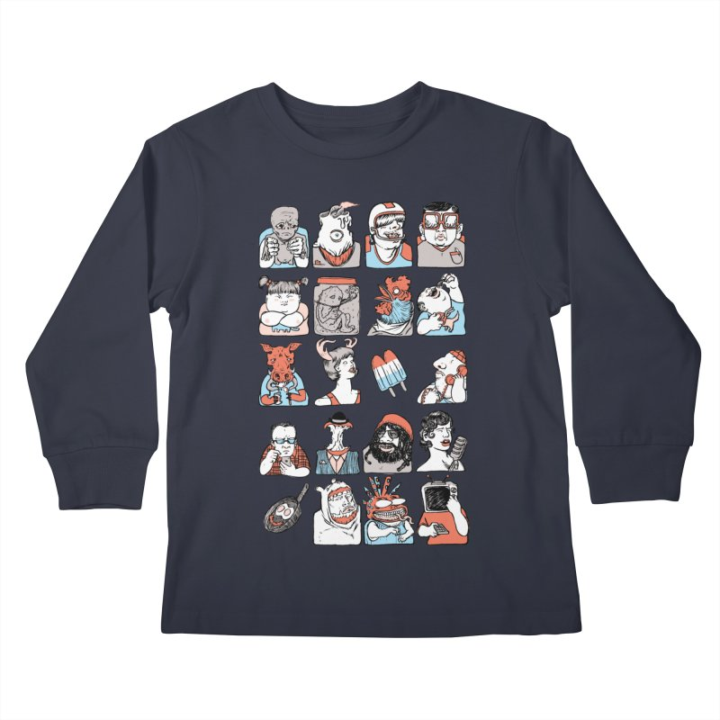 Group photo Kids Longsleeve T-Shirt by Aaron Zonka's Artist Shop