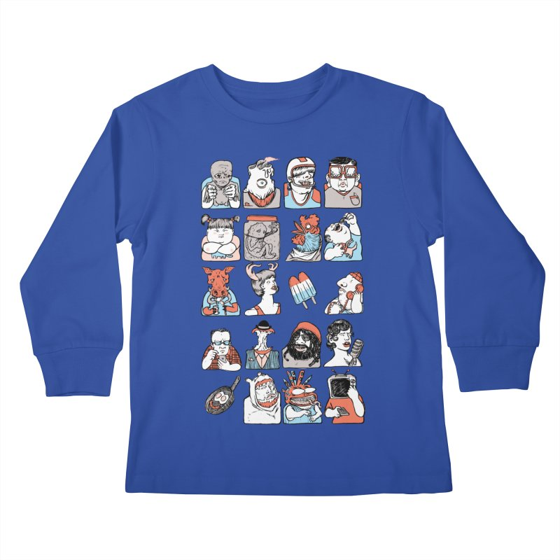 Group photo Kids Longsleeve T-Shirt by zonka's Artist Shop