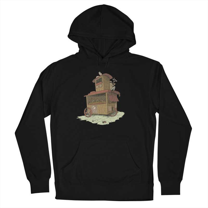 wagon Men's French Terry Pullover Hoody by zonka's Artist Shop