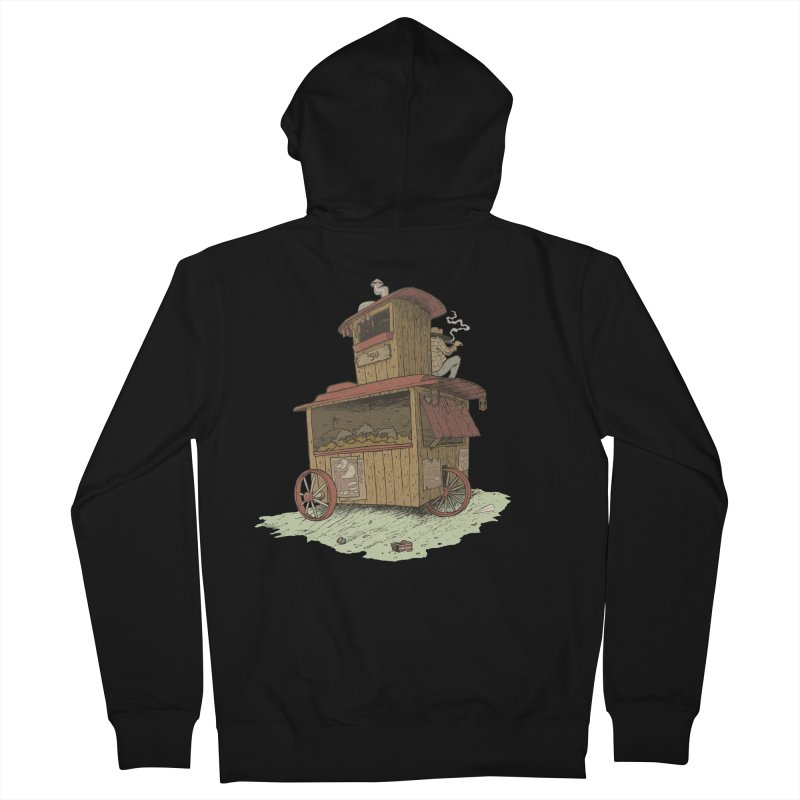 wagon Men's French Terry Zip-Up Hoody by zonka's Artist Shop