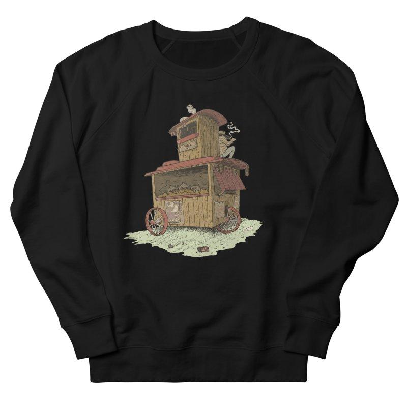 wagon Men's French Terry Sweatshirt by zonka's Artist Shop