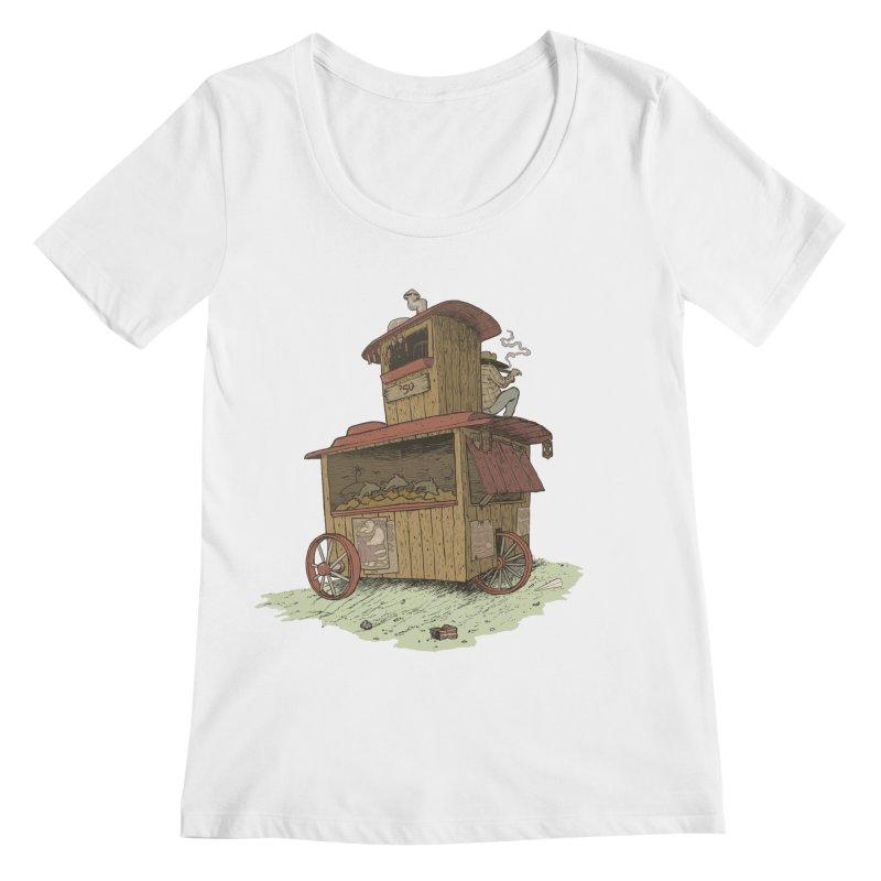 wagon Women's Scoopneck by zonka's Artist Shop