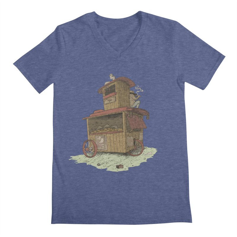 wagon Men's Regular V-Neck by zonka's Artist Shop