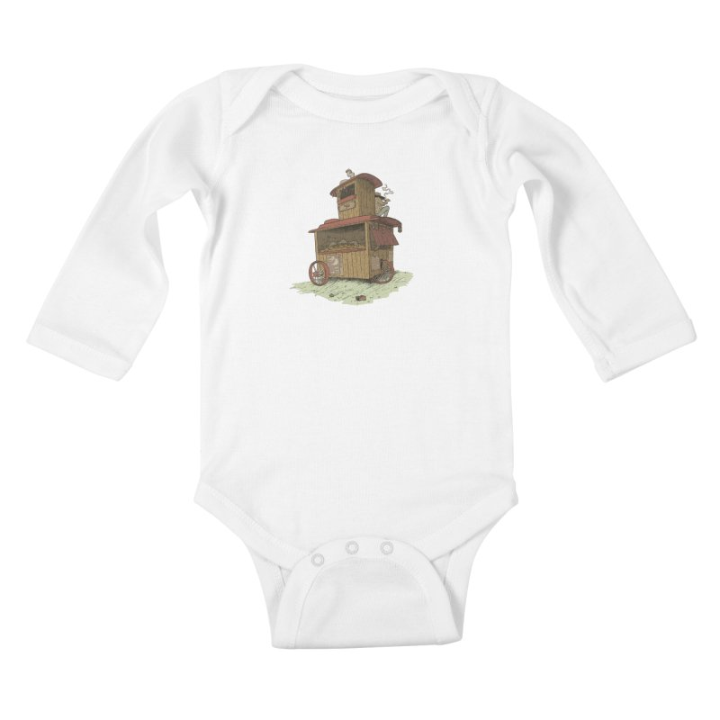 wagon Kids Baby Longsleeve Bodysuit by zonka's Artist Shop
