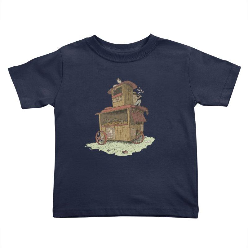 wagon Kids Toddler T-Shirt by zonka's Artist Shop