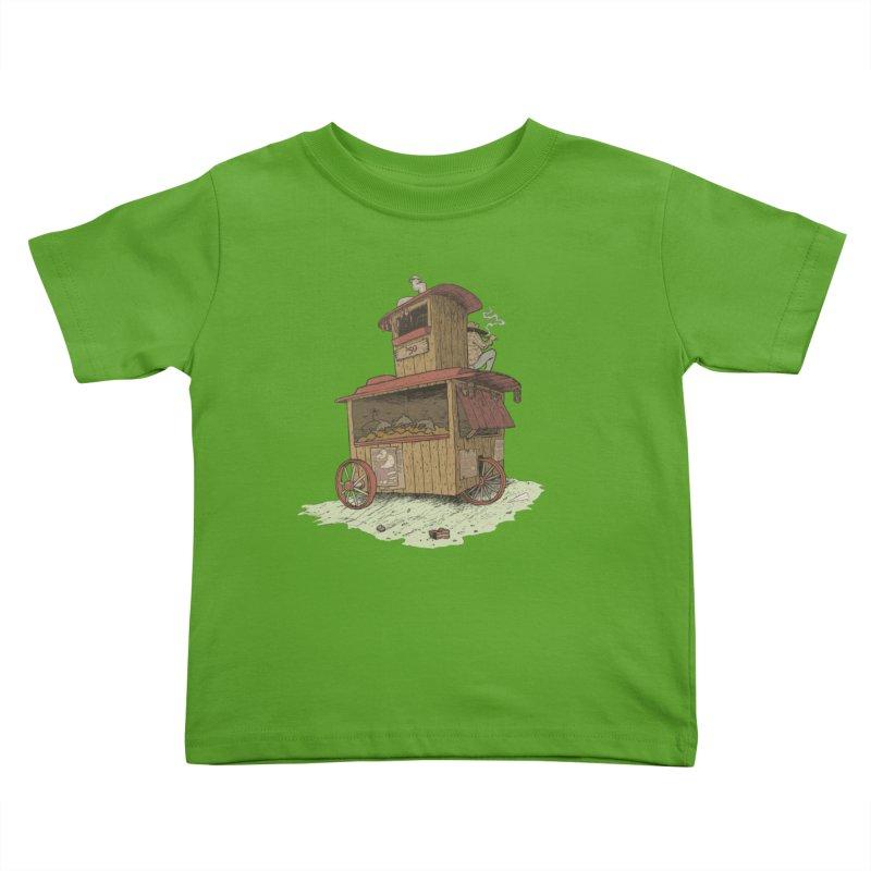 wagon Kids Toddler T-Shirt by Aaron Zonka's Artist Shop