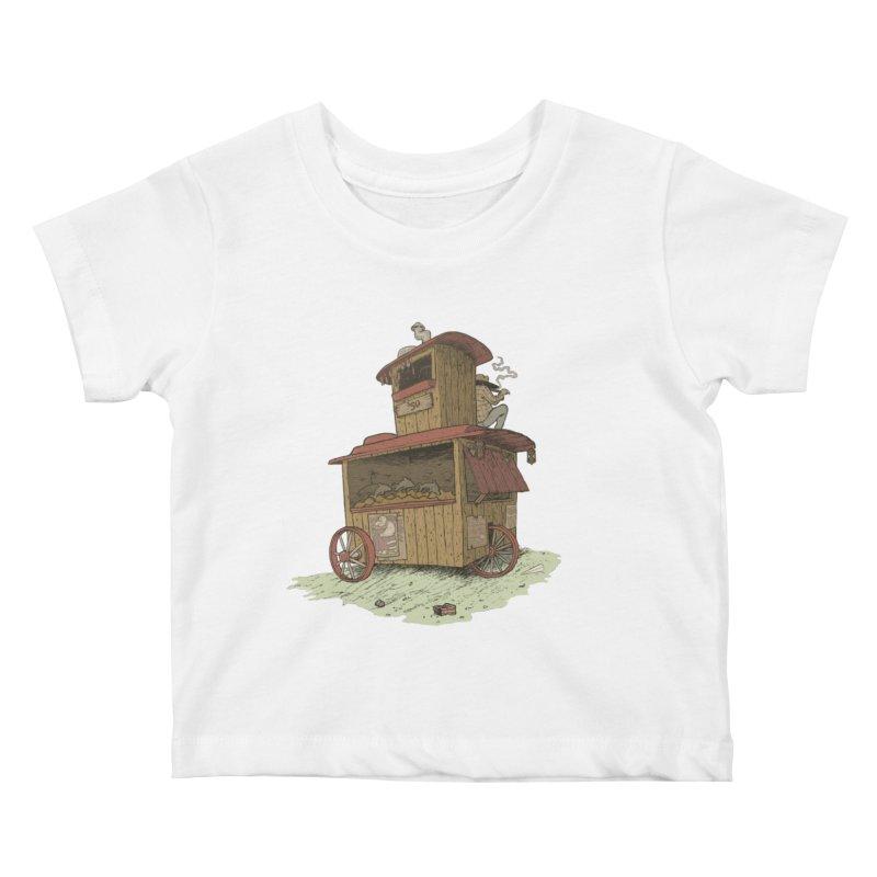 wagon Kids Baby T-Shirt by zonka's Artist Shop