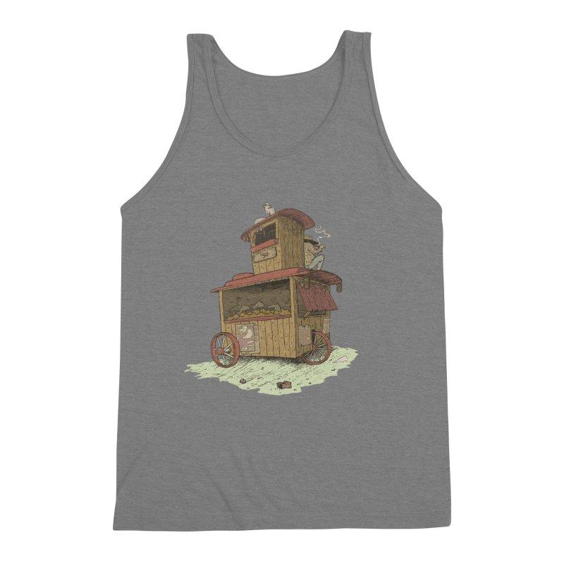 wagon Men's Triblend Tank by zonka's Artist Shop