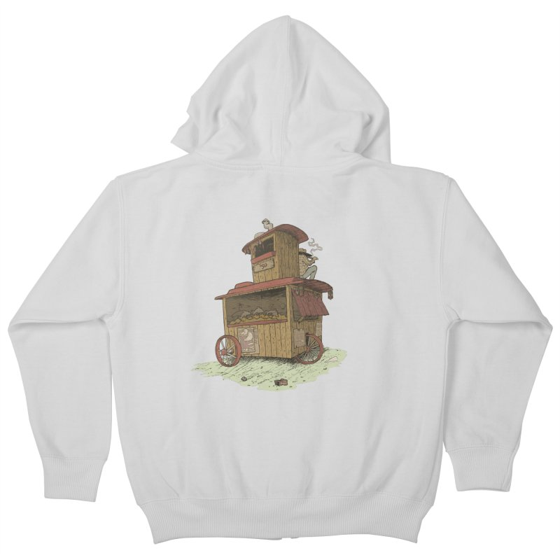 wagon Kids Zip-Up Hoody by zonka's Artist Shop