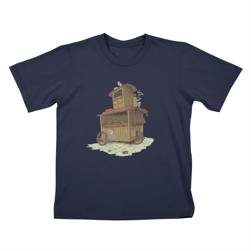 wagon Kids T-shirt by zonka's Artist Shop