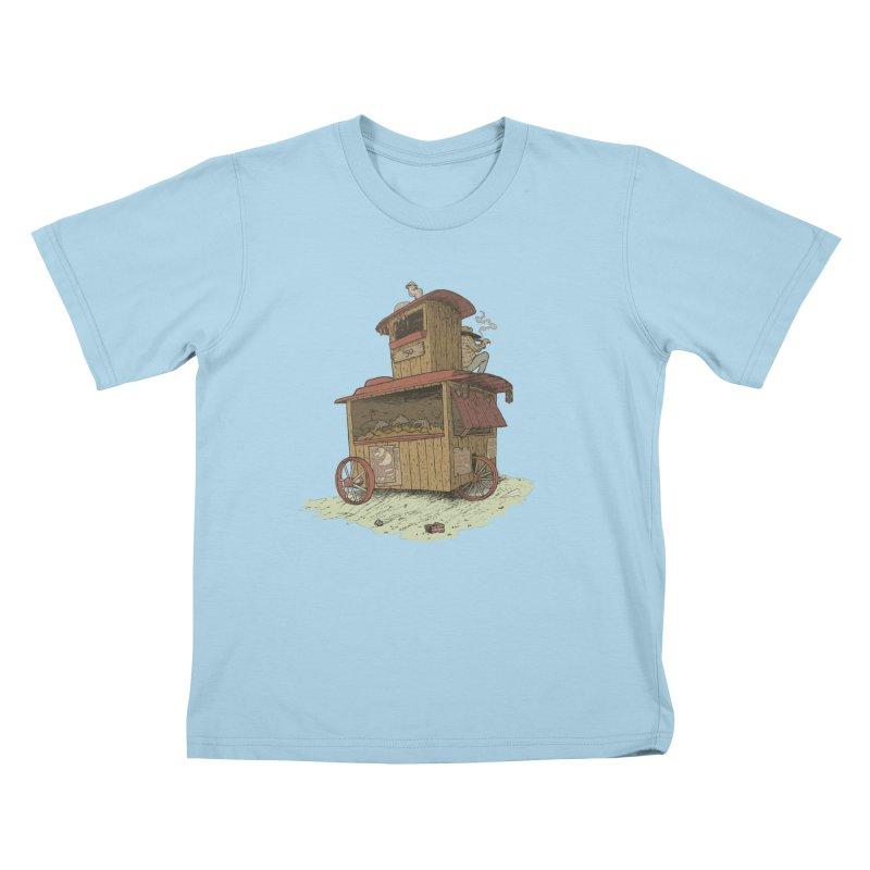 wagon Kids T-Shirt by zonka's Artist Shop