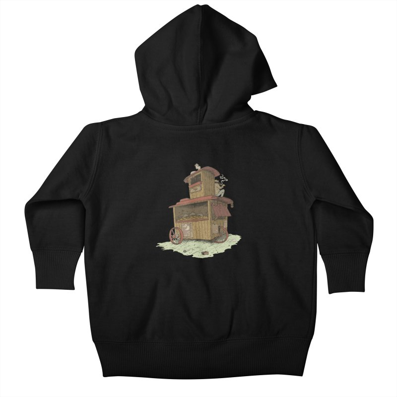 wagon Kids Baby Zip-Up Hoody by zonka's Artist Shop