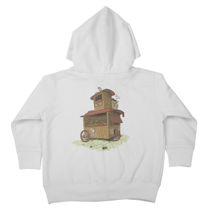 wagon Kids Toddler Zip-Up Hoody by zonka's Artist Shop