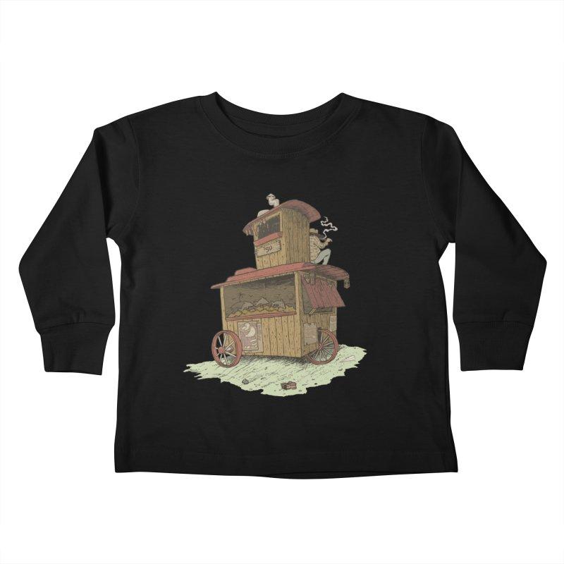 wagon Kids Toddler Longsleeve T-Shirt by Aaron Zonka's Artist Shop