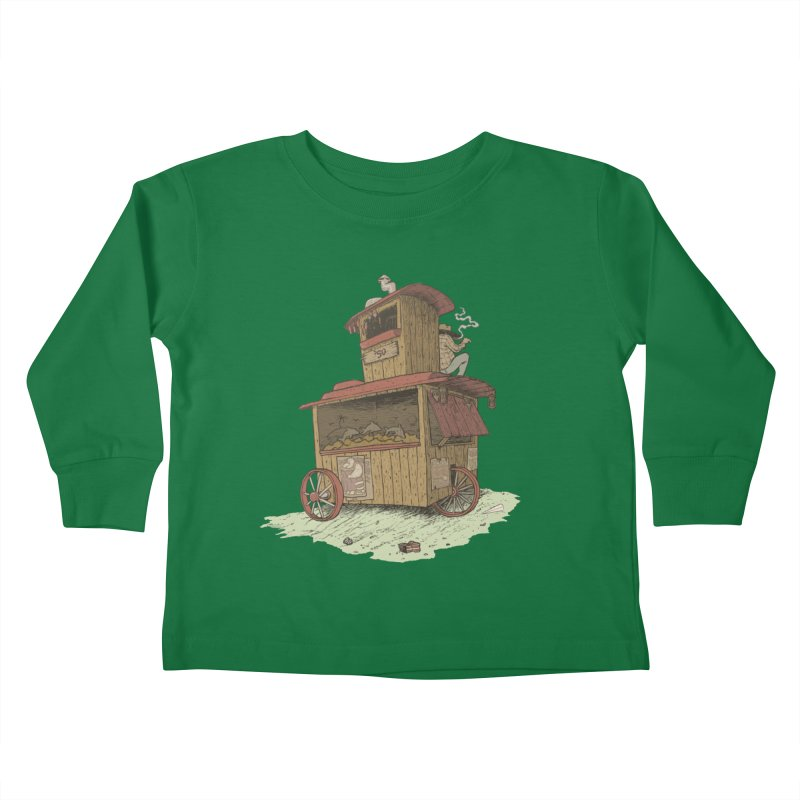 wagon Kids Toddler Longsleeve T-Shirt by zonka's Artist Shop