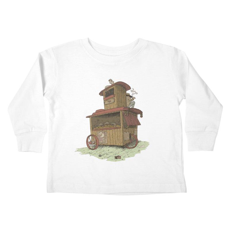 wagon Kids Toddler Longsleeve T-Shirt by zonka's Artist Shop