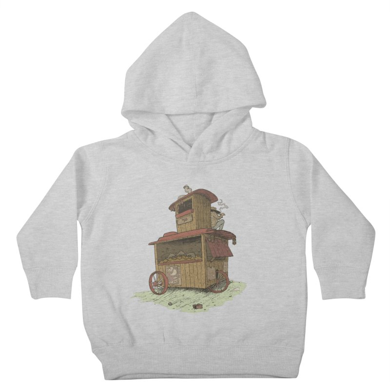 wagon Kids Toddler Pullover Hoody by zonka's Artist Shop
