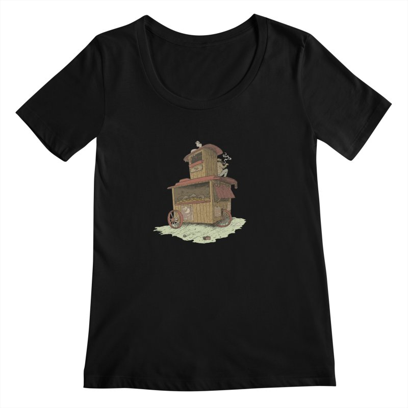 wagon Women's Scoopneck by zonka's Artist Shop