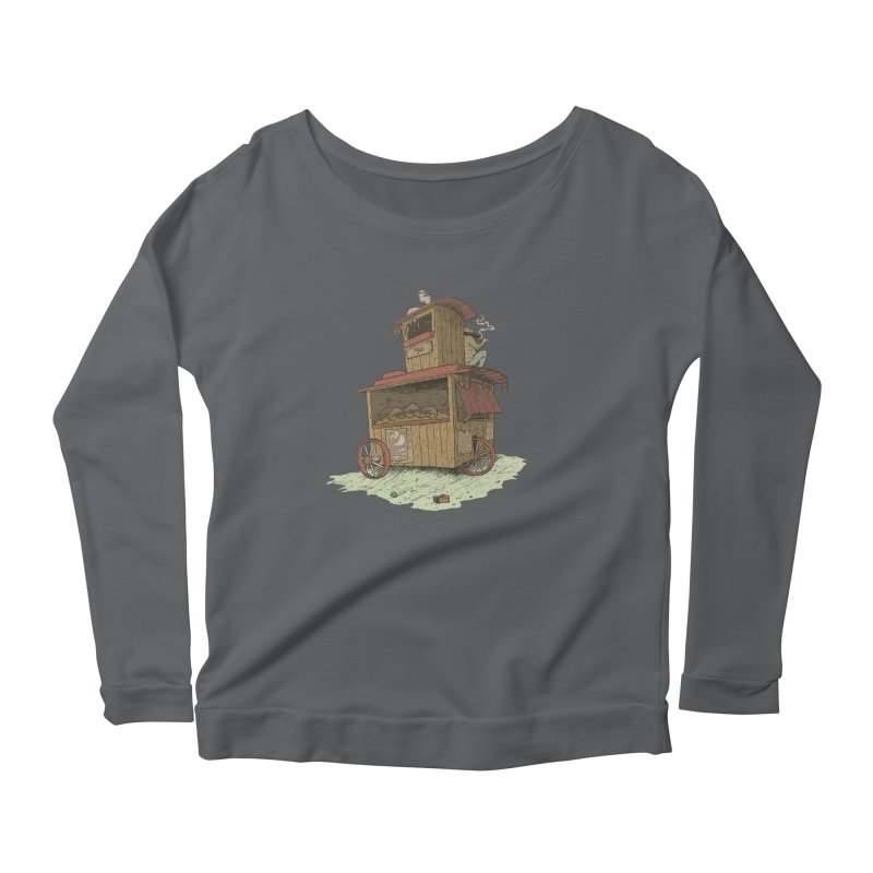 wagon Women's Scoop Neck Longsleeve T-Shirt by zonka's Artist Shop